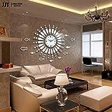 ZQ@QX décoration fashion design Horloge de Fer forgé miroirs fashion salon style horloge simple silencieux horloge murale (sans batterie) 700 * 700mm...