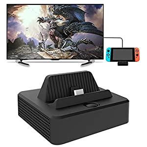 FYOUNG Ladestation für Nintendo Switch, MultiPort HDMI Konverter Adapter und Ladestation Ständer für Nintendo Switch