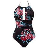 Damen Bikini,❤️Binggong Damen Neckholder-Badeanzug Enge Taille Hals Hängen Beachwear-Badeanzug Bademode
