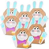 12 Sacchetti Fai-Da-Te a forma di coniglietto pasquale - sacchetti pasquali colorati da riempire a piacere - Primavera - decorazione feste - Impacchettare giocattolo regali per grandi e bambini