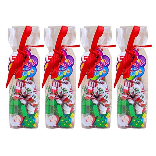 Toyvian 160 pz gomme matita simpatici gomme natalizie bomboniere regali forniture scolastiche articoli di cancelleria per studenti bambini