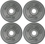 GAT POWER Hantelscheiben 4 x 2,5 Kg = 10kg - Hantel Gewichte aus Gusseisen mit 30 mm Bohrung