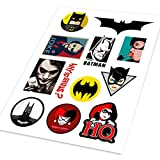 A4 Batman adesivi Cartoon Hero Colored styling auto impermeabile graffiti adesivo auto moto bici di skateboard Phone decalcomanie, The Joker, Gotham, uomo pipistrello, gatto, donna, Catwoman Marvel, DC, The Dark Night adesivi