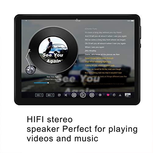 Android- Tablet mit 10, 0- Zoll- HD- IPS- Bildschirm,  Android 9.0 Tablet mit 2 SIM- Kartensteckplätzen,  Quad- Core,  1, 3 GHz,  4 GB + 64 GB,  Bluetooth,  WLAN,  GPS,  Dual- Kamera