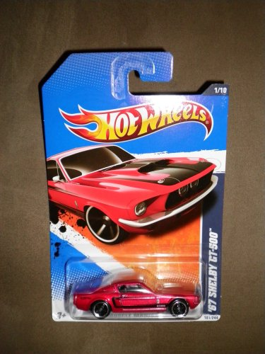 HOT WHEELS 2011 MUSCLE MANIA 1/10 RED \'67 Ford Mustang Fastback SHELBY GT-500 101/244 by Hot Wheels