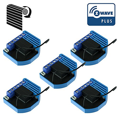 Pack de 5módulos de persianas giratorias Z-Wave Plus empotrables – Qubino