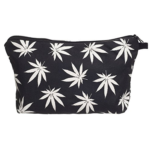Funny Make-Up Bags Company© Imprimé 3D Trousse de toilette Impression/Motif/Conception Taille Unique Unisexe Printemps Été 2017 (MARIJUANA BLACK 36946)