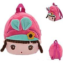 EQLEF® bolso de escuela de los niños del bebé de la historieta de guardería Mochila Bolsa de jardín de infancia lindo Mochila niños de la felpa del bolso