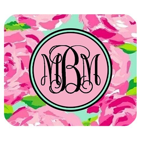 gomma-antiscivolo-mouse-rosa-rose-vs-circle-monogrammed-gaming-mouse-pad-180-mm-220-mm-3-mm