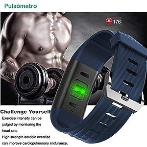 Willful Pulsera Actividad con Pulsómetro, Pulsera Inteligente para Deporte, Reloj Inteligente Impermeable IP67,Monitor de ritmo cardiac, GPS para running,Notificación de mensajes, Monitor de Sueño, Despertador Pulsera para Hombres Mujeres Niños