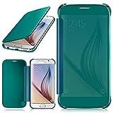 moex Samsung Galaxy S6 | Hülle Transparent TPU Void Cover Dünne Schutzhülle Türkis Handyhülle für Samsung Galaxy S6 Case Ultra-Slim Handy-Tasche mit Sicht-Fenster