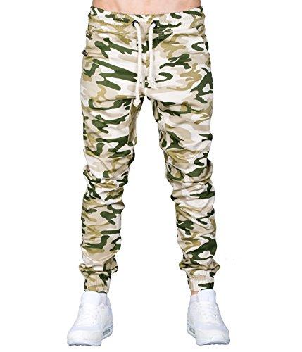 Betterstylz BradleyBZ CMO Chino-Jogger Pantalon Chino Camouflage Treillis Militaire Homme 3 couleurs (S-XXL) Desert Camo