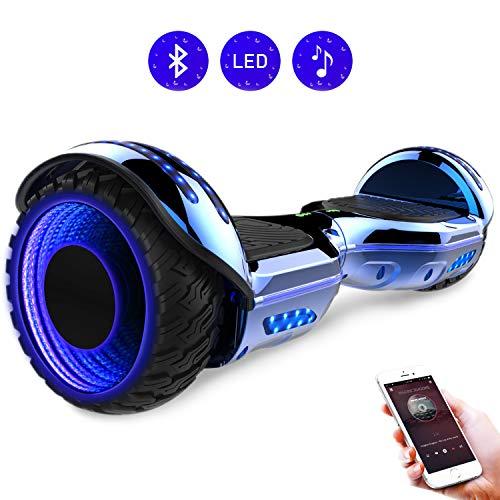 RCB scooter elettrico da 6,5 pollici auto bilanciamento Hoverboard con ruote 6.5\'\' lampeggianti Bluetooth per adulti e bambini