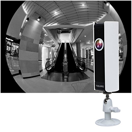 Toguard tiny HD Wifi Video Surveillance Camera dwelling newborn Monitor IP Camera by means that of  185 Panorama View Fisheye Lens Night Vision Real time Intercom Motion Detection isolated Monitoring Cylinder Bullet Cameras