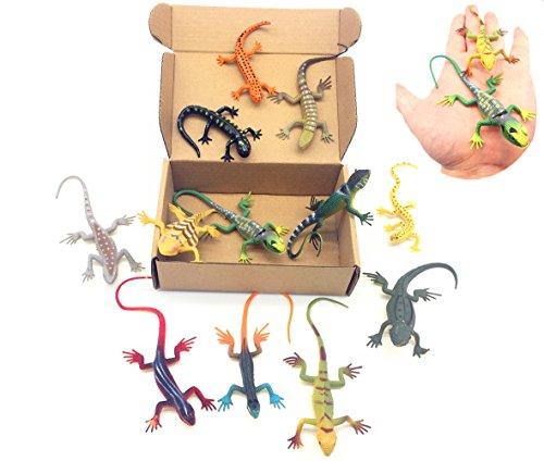 Qiandier Lizard Figures Model Set de 12 piezas Simulación Reptiles Juguete Gecko Camaleón