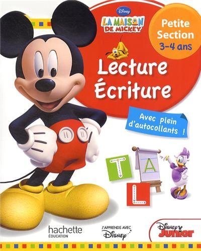 Lecture Ecriture petite section 3-4 ans La maison de Mickey par Disney Junior