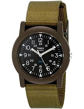 Timex Unisex-Armbanduhr Schwarz Analog Nylon T41711D7