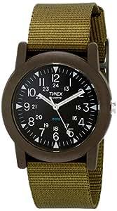 Timex Quarz T41711PF Orologio Analogico da Polso, Unisex, Nylon, Nero/Verde