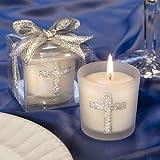 Set di 6 Silver Cross tema Candela Battesimo Battesimo Bomboniere Conferma