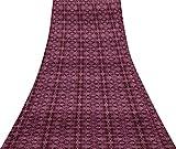 Svasti quaterfoil damasco 100% seta lavanda damasco Tessuti etnici usati Sari Fabric Craft