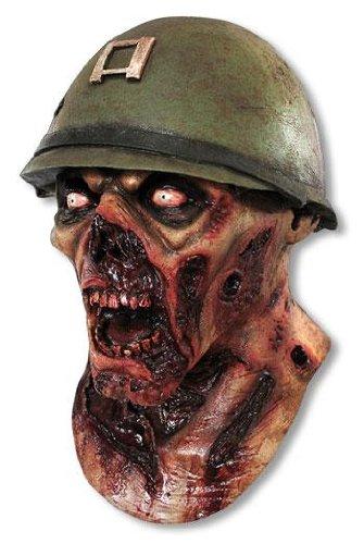 CAPTAIN Lester ARMEE Zombie KOPF MASKE - LATEX HOHE QUALITÄT, HALLOWEEN ODER (Kostüme Soldat Halloween)