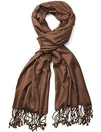 styleBREAKER Stola Schal, Tuch mit Fransen in vielen verschiedenen Farben, Unisex 01012035