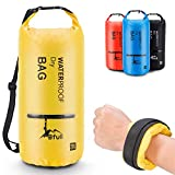 Bfull Dry Bag, 5L/10L/20L/30L/40L Leicht Wasserdichte Tasche/Trockensack mit 2 Außentasche mit Reißverschluss und lang Verstellbarer Schultergurt für Boot und Kajak Wassersport
