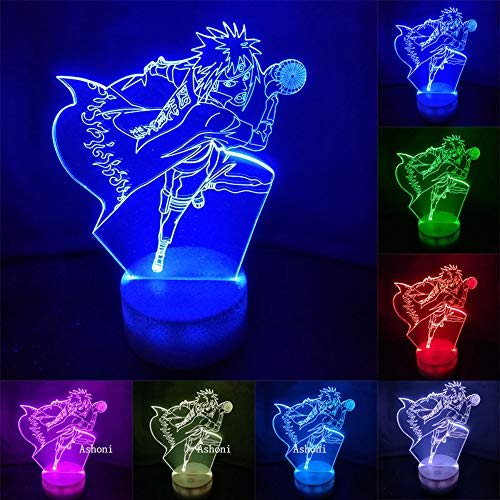 CFLEGEND 3D Led Desktop Led Farbwechsel Visuelle Illusion Usb Nachtlicht Anime Blast Pass Kind Weihnachtsgeschenk Blast-usb