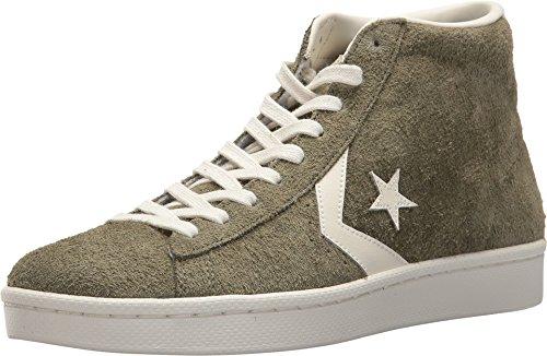 Converse Unisex-Erwachsene Pro Leather Mid Sneaker, Grün Olive/Weiß, 43 EU (Mid Converse)
