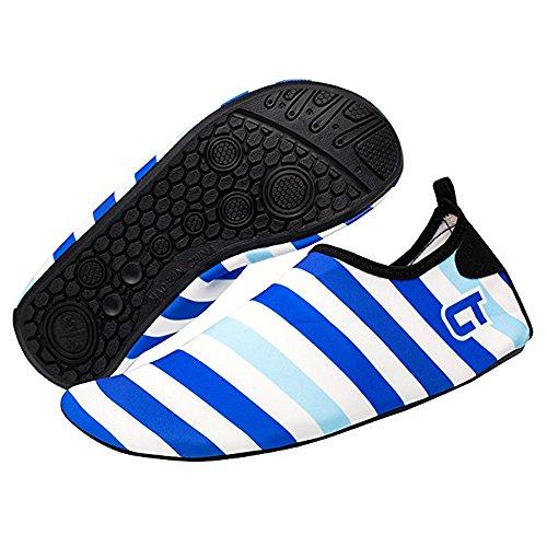 SITAILE Aquaschuhe Barfuß Schuhe Schwimmschuhe Badeschuhe Wasserschuhe Surfschuhe Sportschuhe für Kinder B-hellblau