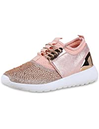 Fashion Sneakers Damen Sportschuhe Freizeitschuhe Sportschuhe 5182 Rosa Gold 36