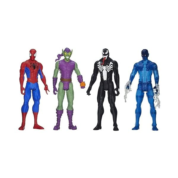 Hasbro Spider-Man - Pack 4 Figuras Titan Spider-Man vs Villanos 2
