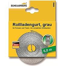 Schellenberg - Correa de persiana (4,5m), color gris