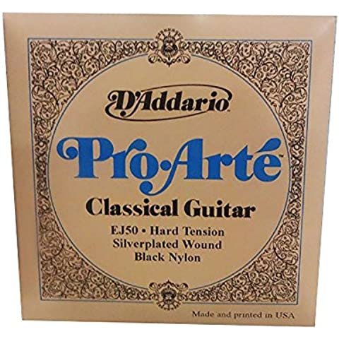 D'Addario EJ50 - Juego de cuerdas para guitarra clásica de nylon, 028' - 044' (tensión alta)