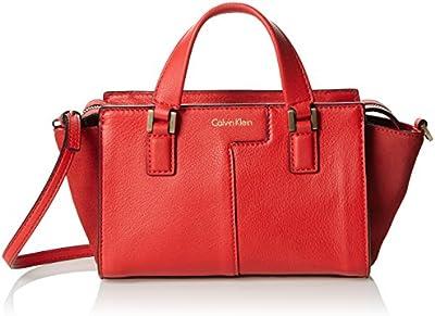 Calvin Klein Jeans Shari Micro Tote, Bolsa para Mujer, Rojo (Fiery RED 601), 9x13x25 cm (B x H x T)