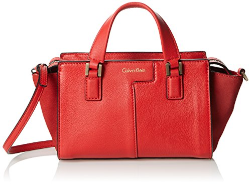 Calvin Klein Jeans Shari Micro Tote, Sac Femme, Rouge (Fiery Red 601), 9x13x25 cm (B x H x T)