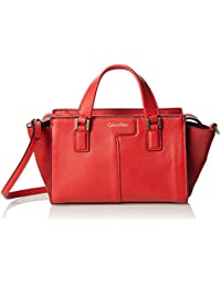 Calvin Klein Jeans Shari Micro Tote, Sac Femme, Rouge (Fiery Red 601), 9x13x25 cm