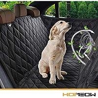 """HOMEOW Hundedecke für Auto Rückbank, Komplettschutz Autoschondecke Kofferraumschutz für Haustiere, Wasserfeste Hundeschutzdecke Autoschutzdecke, Rutschfest für alle Automodell - 57""""x53"""""""