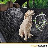HOMEOW Hundedecke für Auto Rückbank, Komplettschutz Autoschondecke Kofferraumschutz für Haustiere, Wasserfeste Hundeschutzdecke Autoschutzdecke, Rutschfest für alle Automodell - 57
