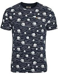Mens T-Shirt BELLFIELD Cascade Breaking Wave Pocket T-Shirt  Navy Blue