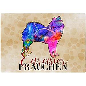 Cadouri Frühstücksbrettchen EURASIER FRAUCHEN Glasschneidebrett Schneidebrettchen – 28,5 x 20 x 0,4 cm