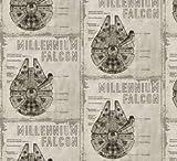 Visage Star Wars Stoffe, 100% Baumwolle, 0,5 m VISF93 Star