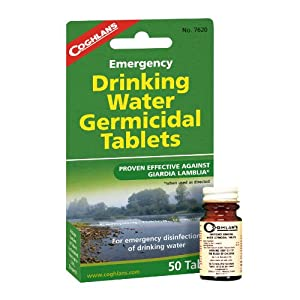51bW8glwD3L. SS300  - Coghlan's Drinking Water Tablets - White