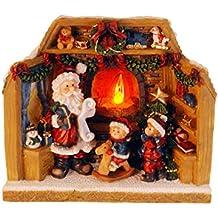 made2trade Navidad Figura con Auténtica Fuego de Efecto – Iluminación ...