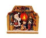 made2trade Navidad Figura con Auténtica Fuego de Efecto–Iluminación LED–20cm, Kranz