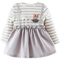 Faldas bebé Ropa de niña bebé recién nacido Vestido de fiesta de princesa de bebé niñas Vestido de burbuja lindo de chicas ❤️Amlaiworld❤️ (Gris, Tamaño:12Mes)