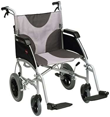 "Drive DeVilbiss Healthcare Ultra Lightweight Enigma Transit Wheelchair with 20"" Seat Width"