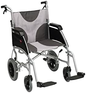 """Drive DeVilbiss Healthcare Ultra Lightweight Enigma Transit Wheelchair with 20"""" Seat Width"""