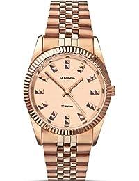 SEKONDA 2068 - Reloj de cuarzo para mujeres, color oro