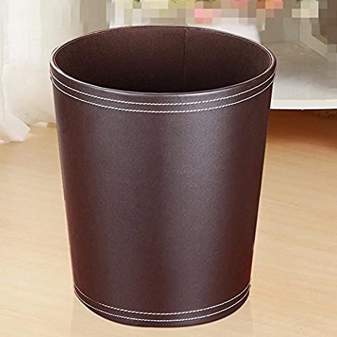 Trash cans household office wastebasket hotel room round baskets , brown